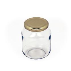 Frasco de vidro oval