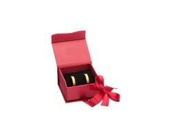Caixa de cartão vermelha para brincos