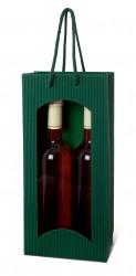 Saco verde para duas garrafas