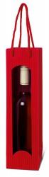 Saco vermelho para uma garrafa