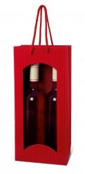 Saco vermelho para duas garrafas
