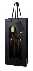 Saco preto para duas garrafas