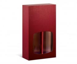 Caixa vermelha com janela