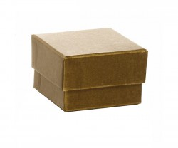 Caixa de cartão dourado