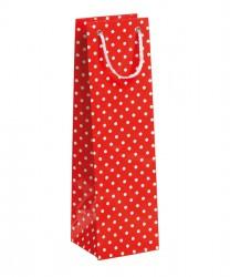 Saco vermelho com bolinhas