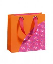 Saco de papel com padrão colorido