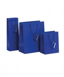 Saco de papel azul