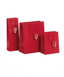 Saco de papel vermelho