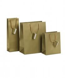 Saco de papel dourado