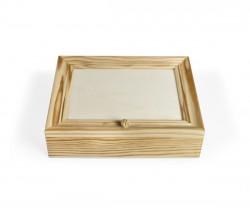 Caixa de madeira quadrada