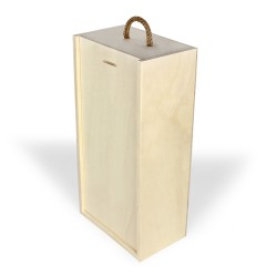 Embalagem em madeira para duas garrafas