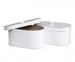 Caixa oval branca