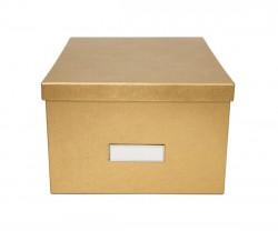 Caixa grande dourada