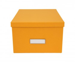 Caixa grande laranja